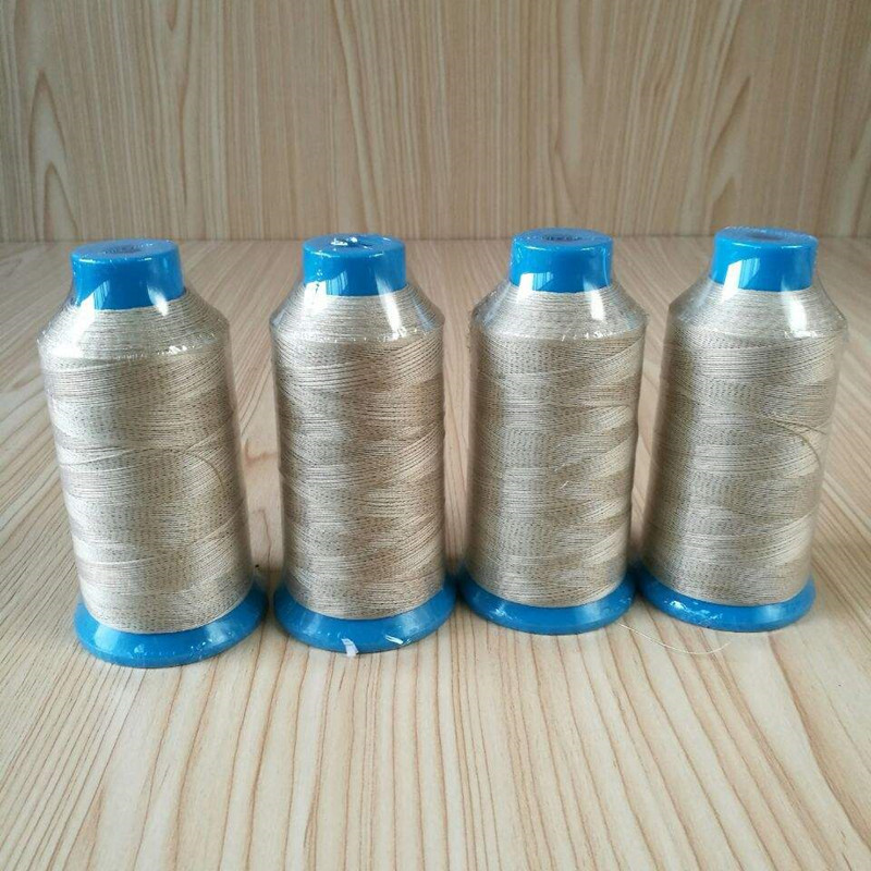 Teflon coated fiberglass sewing thread